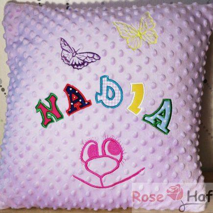 jasno fioletowa poduszka